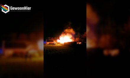 💥 Explosiegevaar bij brand in Valthermond! [VIDEO]